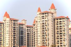 Free Apartment Block With Spires Stock Photos - 4594953