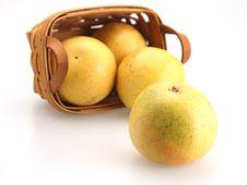 Free Basket Of Oranges Royalty Free Stock Photo - 4594965