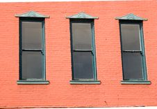Free Three Windows On Pink Background Stock Images - 4595054