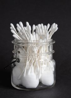 Cotton Jar Stock Photos