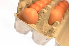 Free Fresh Farm Brown Eggs Carton Stock Images - 4595624