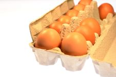 Organic Brown Farm Fresh Eggs Stock Photo