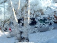 Free Snowflakes On The Window Royalty Free Stock Images - 4595729
