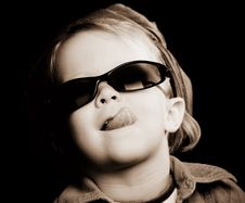 Free Little Girl Sticking Out Her Tongue Royalty Free Stock Photo - 4596505