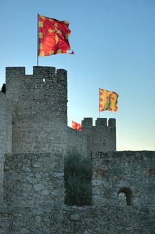 Free Flags Flutter On The Castle Stock Photo - 4597070