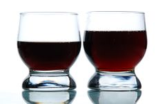 Free Two Glasses Filled With Some Alcohol Royalty Free Stock Photos - 4597188