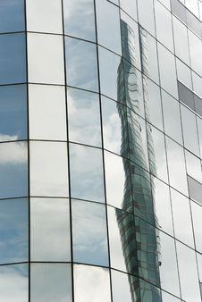 Free Skyscraper Window Reflections Stock Photos - 4597253