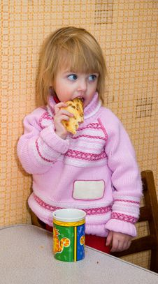 Free Child With A Cracker Stock Image - 4598581