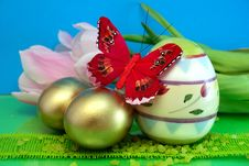 Free Colorful Eggs Royalty Free Stock Images - 4598629