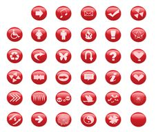 Free Web Red Buttons Stock Photos - 4598913