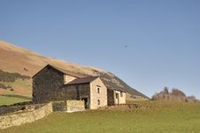 Free Dry Stone Wall And Barn Stock Image - 4599001