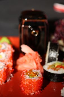 Free Pleasure By Meal In The Japanese Style Royalty Free Stock Images - 4599549