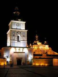 Free Cathedral At Night Stock Photography - 4599782