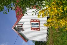 Norwegian Summer House Royalty Free Stock Photography