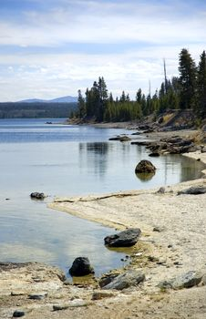Free Edge Of Yellowstone Lake Royalty Free Stock Photography - 462537