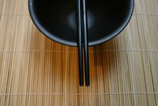 Free Asian Dining Set - Chopsticks And Bowl Stock Images - 462974