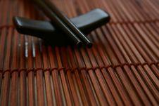 Free Asian Dining Set - Chopsticks And The Holder Stock Photos - 463033