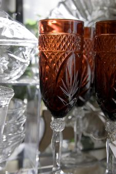 Free Festive Glassware Royalty Free Stock Photo - 463665