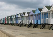 Free Stormy Beach-huts Royalty Free Stock Image - 464106