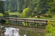 Free Wooden Bridge Royalty Free Stock Photo - 464485