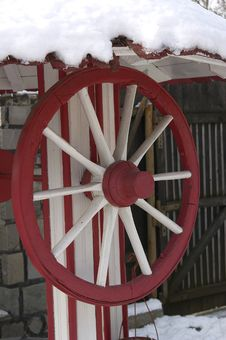 Free Red Wheel Royalty Free Stock Photography - 464657