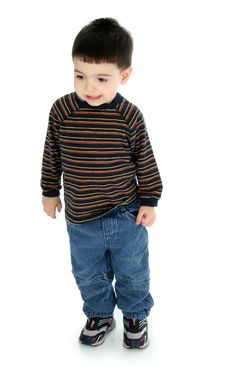 Free Adorable Toddler In Long Sleeve And Jeans Royalty Free Stock Photography - 469227
