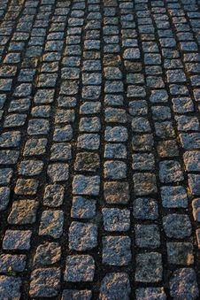 Free Cobble Paving Royalty Free Stock Photography - 469927
