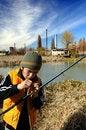 Free Little Boy Fishing Stock Photos - 4608813