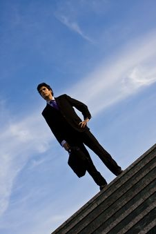 Free Businessman On Stairs Stock Photography - 4600182