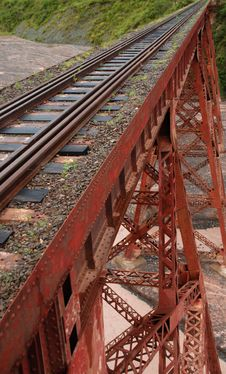 Tren A Las Nubes Railway Bridge Stock Photo