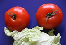 Free Tomatoes And Salad. Royalty Free Stock Photos - 4600688