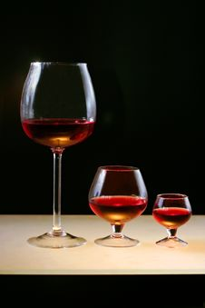 Free Red Wine Or Cognac Stock Photo - 4601110