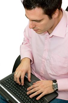 Free Man Working On His Laptop Royalty Free Stock Images - 4601159