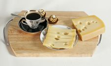 Free Cheese With Coffee Stock Photography - 4601302
