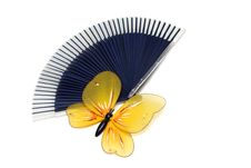 Free Butterfly On A Fan Stock Photography - 4601542