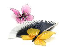 Free Butterfly On A Fan Royalty Free Stock Image - 4601556