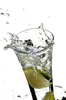 Free Glass With Water And Lemon Royalty Free Stock Photos - 4601888