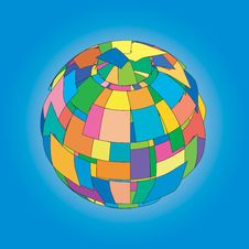 Vector Colored Sphere Stock Photography