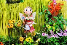 Free Girl Figure In Garden Stock Photos - 4602243