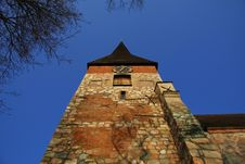 Middle Age Church Tower Stock Images