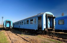 Vintage Train Cars Stock Images