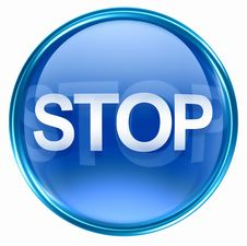 Free Stop Icon Blue Royalty Free Stock Image - 4604236