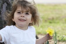 Free With Flower Royalty Free Stock Photo - 4604245