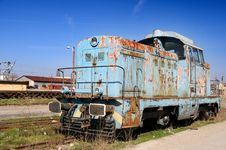 Free Old Diesel Locomotive Stock Photography - 4604332