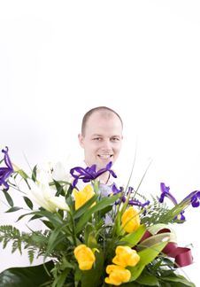 Free Man With Flower Stock Images - 4604404