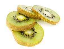 Free Fresh Kiwi Slices On White Royalty Free Stock Image - 4604606