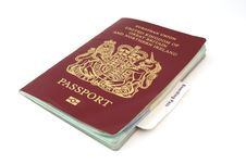 Free Passport With Boarding Card Royalty Free Stock Image - 4604666