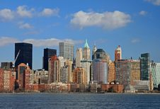Free The Lower Manhattan Skyline Stock Image - 4604731