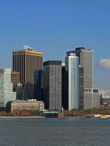 Free The Lower Manhattan Skyline Royalty Free Stock Photo - 4604735