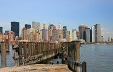 Free The Lower Manhattan Skyline Royalty Free Stock Photo - 4604745